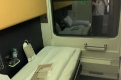 ÖBB Nightjet hálókocsi fülke, éjszakai módban