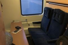 ÖBB Nightjet hálókocsi nappali módban